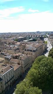 photo de la vue de Bordeaux depuis la tour Pey-Berland
